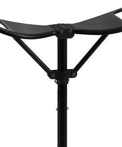 opvouwbare outdoor zitstok in de kleur zwart