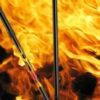 Carbon wandelstok vlammen. De beruchte stok uit de serie House M.D. met Dr. House. De stok is gemaakt van ultra licht carbon en voorzien van vlammen print.