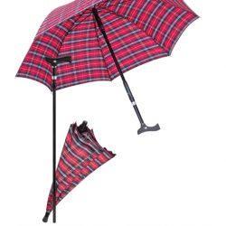 paraplu wandelstok is een paraplu en wandelstok in één