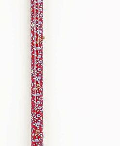 verstelbare aluminium wandelstok met rood bloem patroon