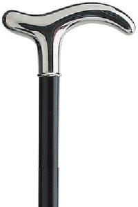 sterling zilveren wandelstok met slanke moderne greep