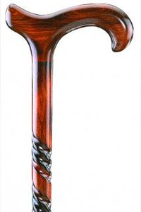 houten wandelstok beukenhout spiraal derby