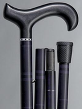 opvouwbare wandelstok-carbon bluaw zwart design