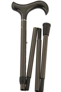 opvouwbare carbon wandelstok design. Antraciet kleurige opvouwbare wandelstok van het materiaal carbon