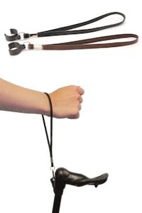 lederen polsbandje voor wandelstok