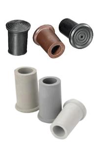 rubber dop voor wandelstok in diverse maten en kleuren