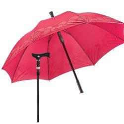paraplu wandelstok - paisley bordeaux