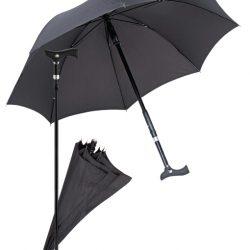 paraplu wandelstok - zwart