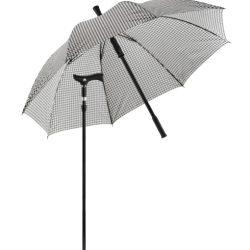 paraplu wandelstok - zwart/wit
